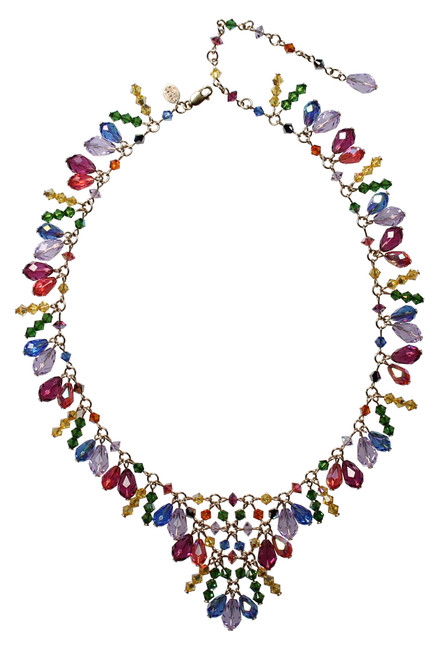 14K Gold Filled Swarovski Crystal Signature V-style Necklace - Confectionary