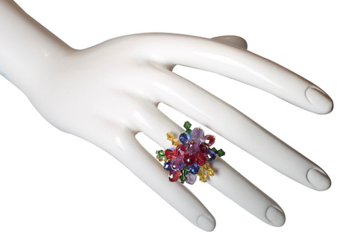 14K gold filled Swarovski Crystal Cocktail Ring • Confectionery