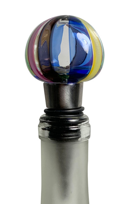 hand made glass wine stopper