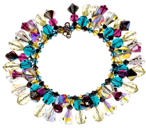 Colorful designer crystal jewelry by Karen Curtis