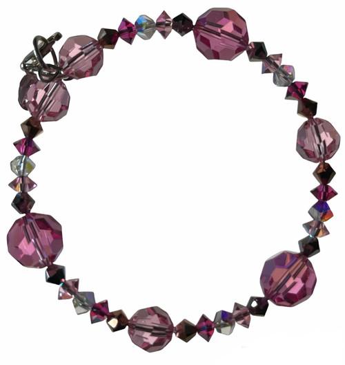 Beautiful Pink Crystal Bracelet by Karen Curtis NYC