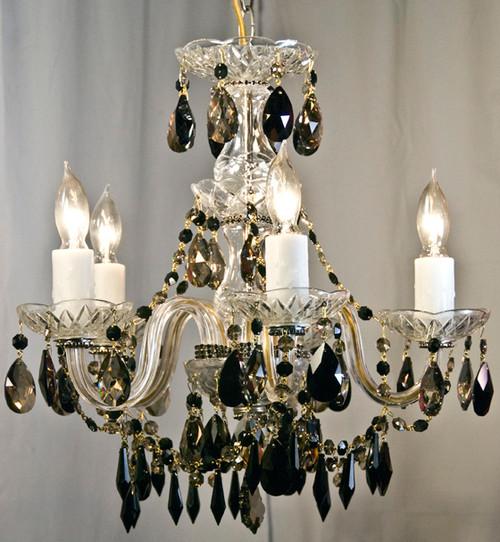 Jet Golden Glass Chandelier
