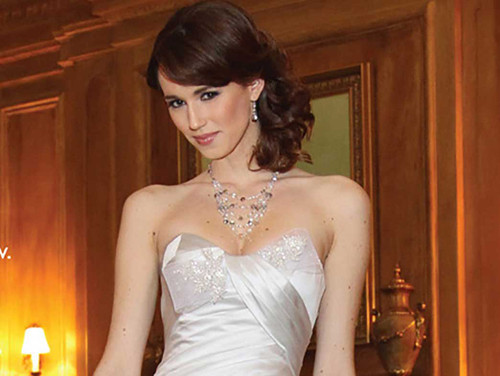 Photography by Rick Bard www.manhattanbride.com Bridal Crystal Layer Necklace