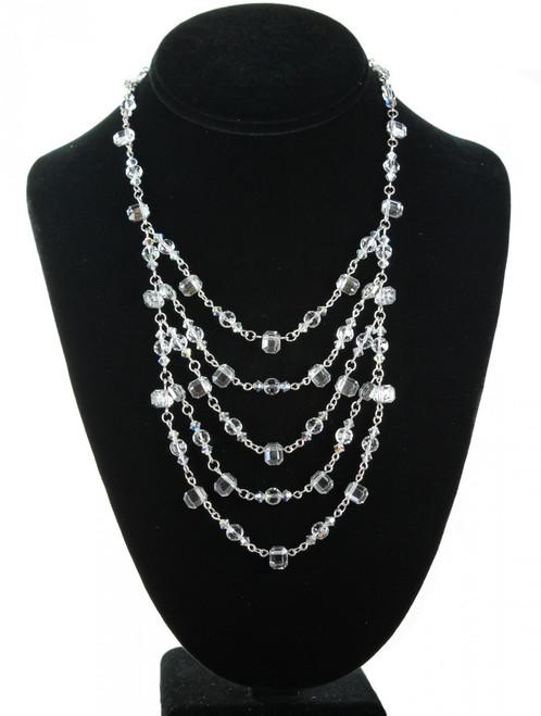 Large Swarovski Crystal Bridal Necklace by Karen Curtis NYC