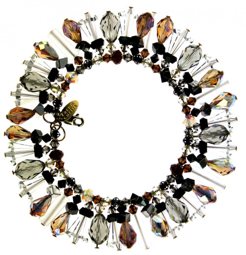 Designer jewelry - Swarovski crystal bracelet made in NYC by the Karen Curtis Company