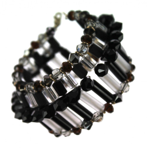 Spiked Swarovski crystal bracelet by Karen Curtis NYC