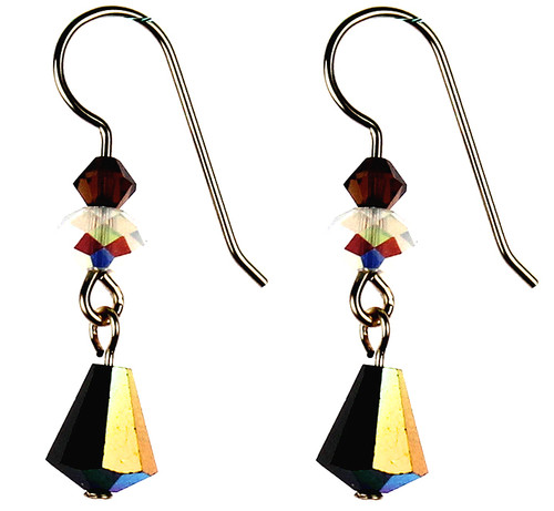 Amazing ab coating creates beautiful sparkling effect on the Swarovski Crystal earrings by Karen Curtis NYC