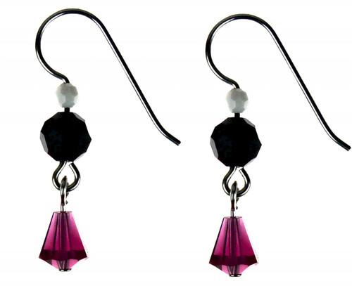 Sterling Silver Swarovski Crystal Drop Earrings - AMORE