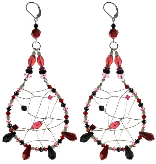 Swarovski crystal chandelier earrings Amore Collection
