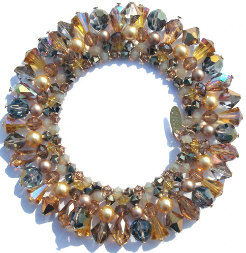 Beautiful hand crafted bracelet, incorporating many antique and vintage SWAROVSKI ELEMENTS.