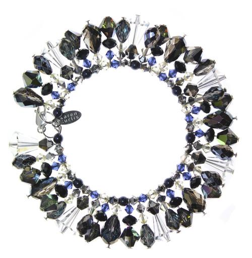 Swarovski Crystal Limited Edition Martini Bracelet with Sterling Silver - Cosmic Dream