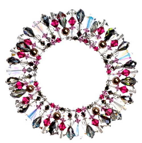 The martini bracelet from the 1920's inspired crystal jewelry by Karen Curtis