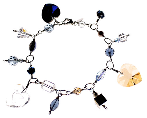Swarovski Crystal Charm Bracelet - Resort Collection - by New York City Designer Karen Curtis