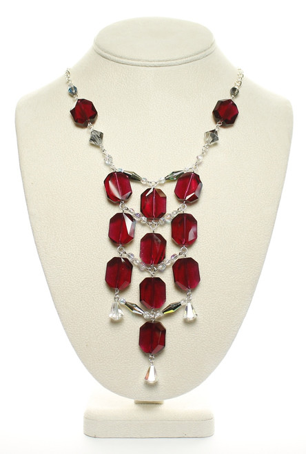 Flapper Style necklace with Swarovski Crystal by Karen Curtis NYC