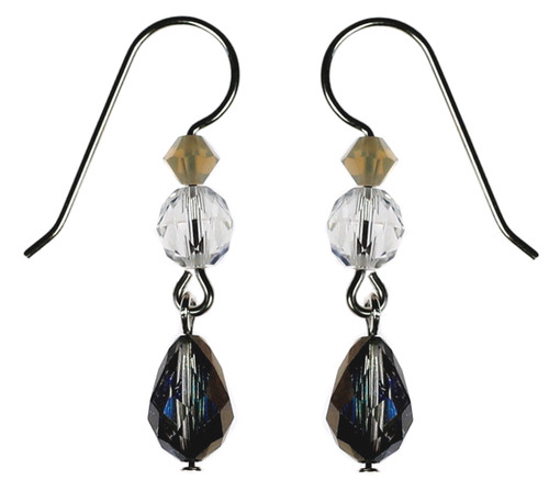 Karen Curtis' Single Drop Earrings with Rare Vintage Bermuda Blue Drop from The Resort Collection
