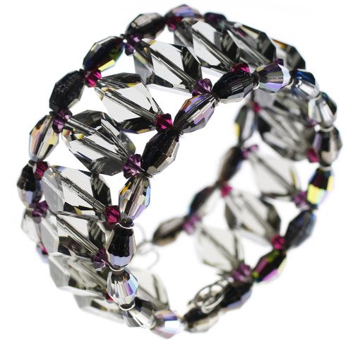 Roaring 20's Collection Crystal cuff bracelet made by Karen Curtis NYC