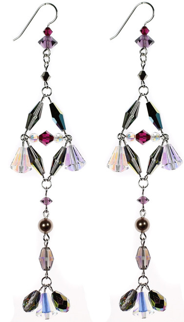 Handmade Swarovski crystal chandelier earrings by Karen Curtis NYC