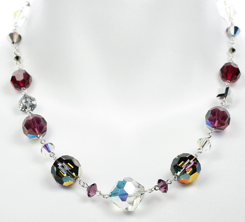 Single Strand Crystal Necklace by Karen Curtis
