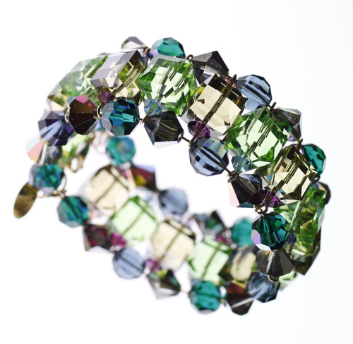 Swarovski crystal designer cuff bracelet from mystical jewelry collection by Karen Curtis NYC