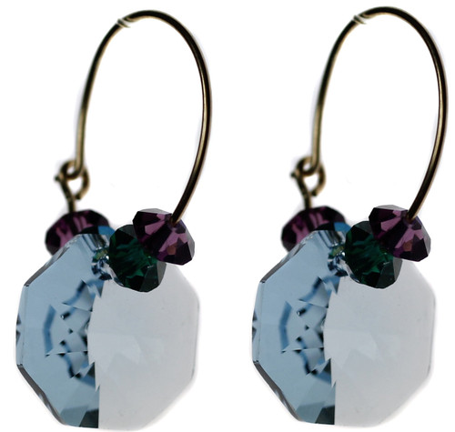 Dazzling blue crystal earrings by Karen Curtis NYC