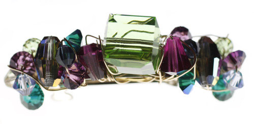 Couture Swarovski Crystal Barrette made by Karen Curtis NYC