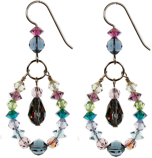 Colorful swarovski crystal earrings by Karen Curtis NYC