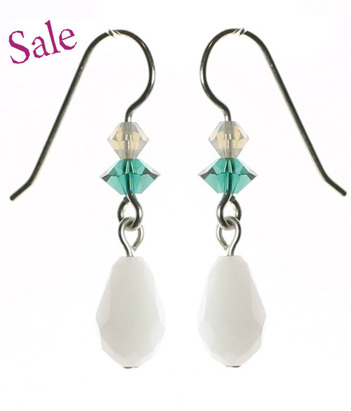 Single drop swarovski crystal earrings for any occasion by the Karen Curtis Company in NYC