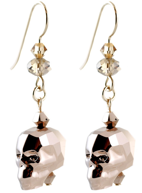 High end skull earrings by the Karen Curtis Company in NYC