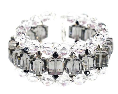 Deco Jewelry collection cuff bracelet with Swarovski crystal