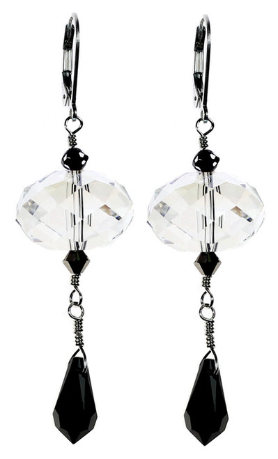 grand central holiday fair jewelry. Deco collection swarovski crystal earrings by Karen Curtis NYC.