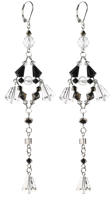 Swarovski crystal divine earrings by The Karen Curtis jewelry company in NYC.