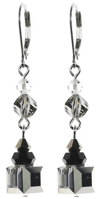 Designer earrings made with Swarovski crystal by the Karen Curtis Company in NYC.