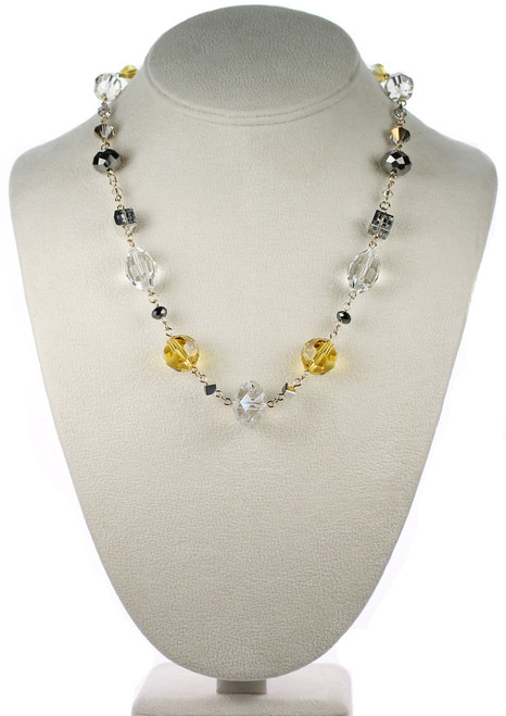 Designer crystal necklace by Karen Curtis NYC