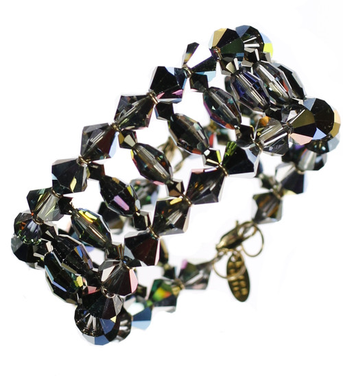 Rare Swarovski Crystal Cuff Bracelet by The Karen Curtis Jewelry Company in NYC