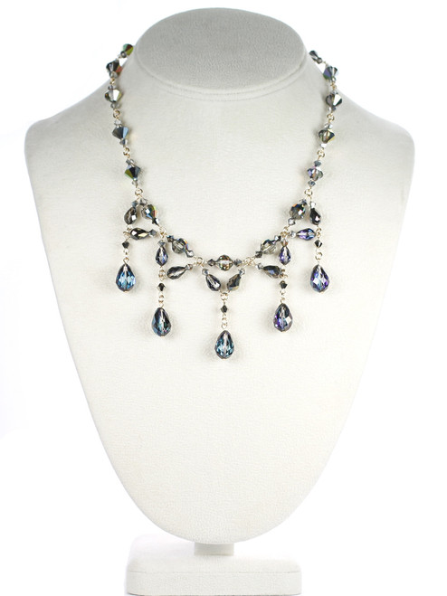 Elegant Necklace made with Swarovski Crystal by Karen Curtis. Devine necklace from Metallica Jewelry Collection