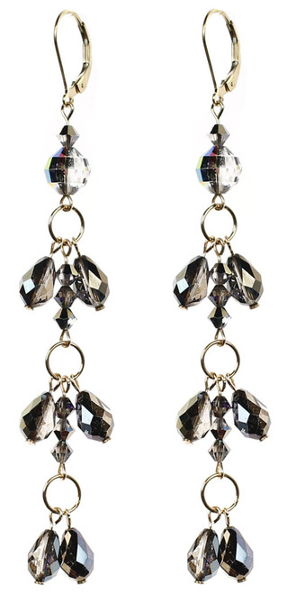 Swarovski crystal shoulder duster earrings by Karen Curtis NYC