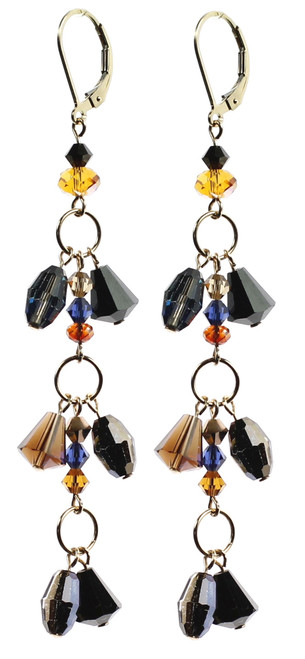 Swarovski Crystal Earrings on 14K gold filled findings.