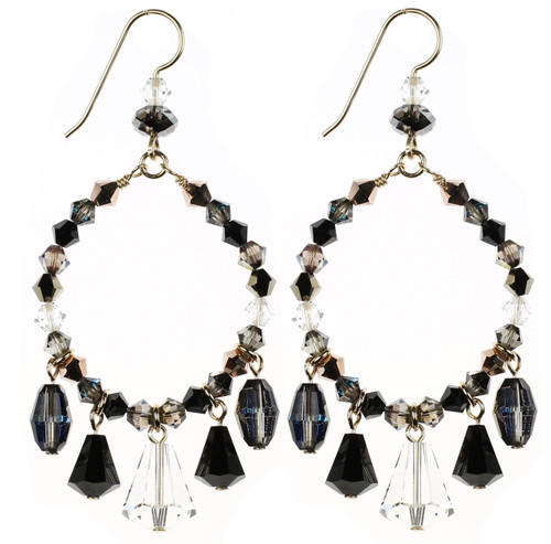 Beautiful Swarovski Crystal Earrings with Crystal Drops by Karen Curtis NYC.