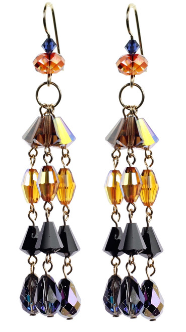 3 Tier Drop Earrings - Tibetan