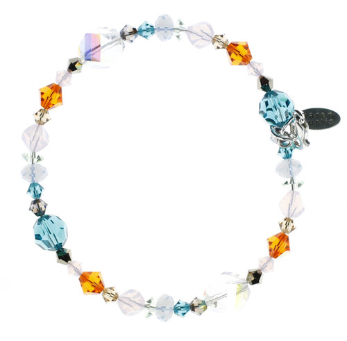 Bling for your wrist! Swarovski Crystal jewelry design Karen Curtis' Stackable Bracelet from the Carousel Collection