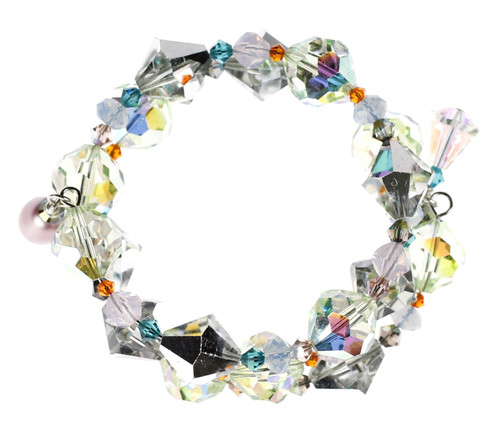 Nothing creates a fire on your wrist like the brilliancy of Swarovski Crystal from the Karen Curtis Company in NYC