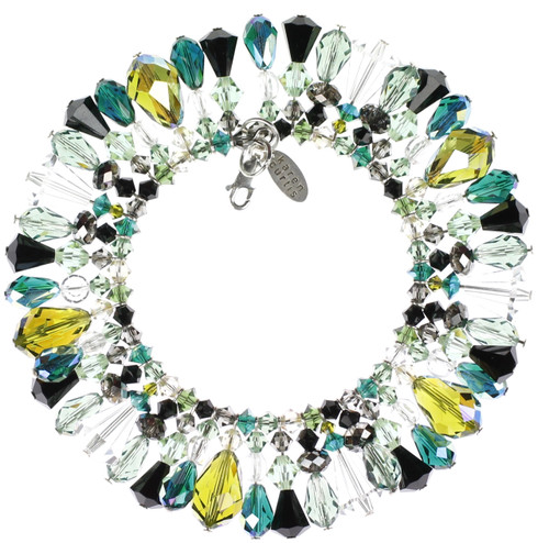 Green and Black Swarovski Crystal Bracelet
