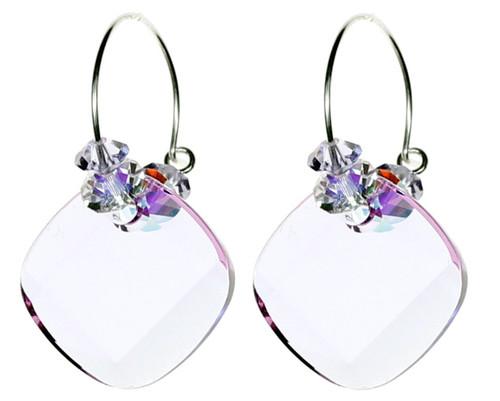 Violet Crystal Hoop Earrings by The Karen Curtis Jewelry Company