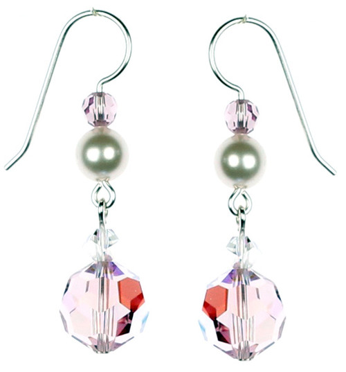 High End Swarovski Crystal Earrings by The Karen Curtis Jewelry Company in NYC.