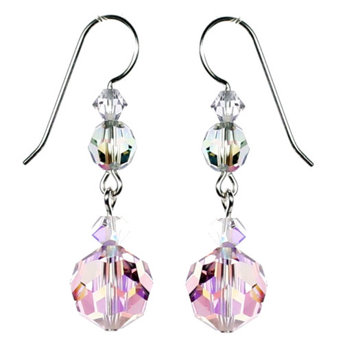 Designer Crystal Earrings by The Karen Curtis Jewelry Company.