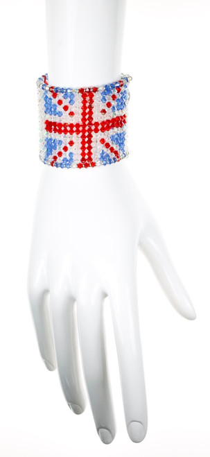 The original swarovski crystal union jack cuff bracelet