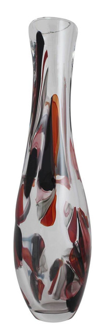 Tall, unique and rich power colors make for truly beautiful piece of art glass
