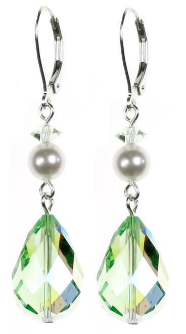 Gorgeous Peridot Green August Birthstone Earrings by Karen Curtis NYC