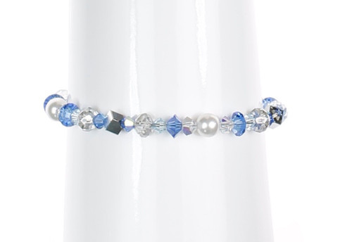 Bracelet with Sapphire Blue Crystal by The Karen Curtis Jewelry Company in NYC