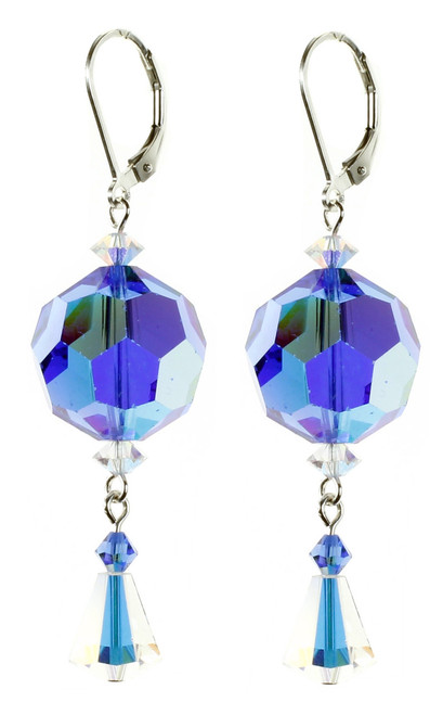 Big Blue Crystal Earrings from The September Birthstone Jewelry Collection by Karen Curtis NYC
